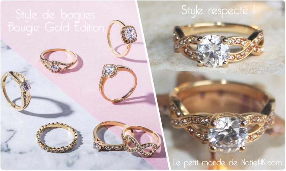 bague My jolie candle Gold Edition