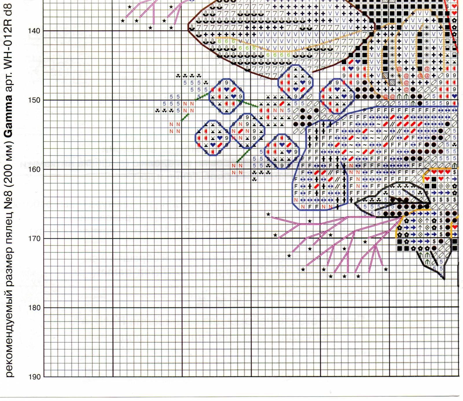 Венок изобилия. Схемы вышивки (8)