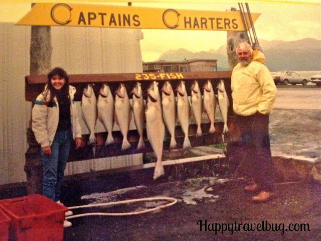 Halibut fishing in Alaska with my dad