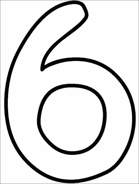 coloriage chiffre six
