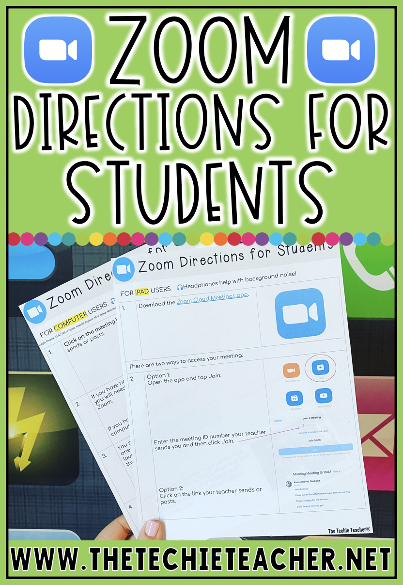 Free directions for students on how to access a Zoom conference meeting! They come in both a Google Slides and PDF format.