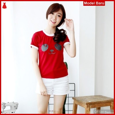 GFSH1899189 Setelan Panda Tee Terbaru Ringer Keren BMG