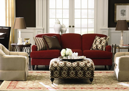 Andrea Espach Design Red Couches