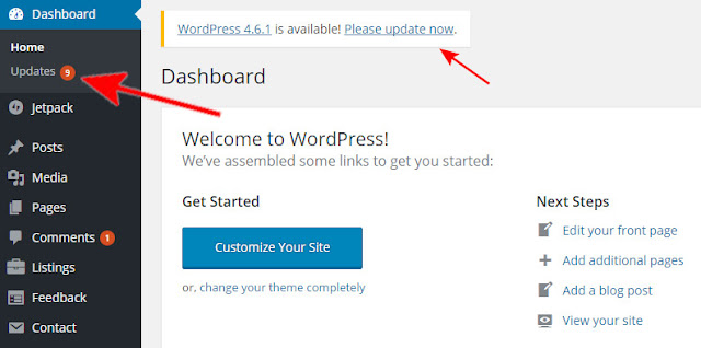 How to update wordpress step 1