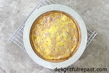 Peach Coffee Cake - Peach Kuchen - made with a rich yeast dough / www.delightfulrepast.com