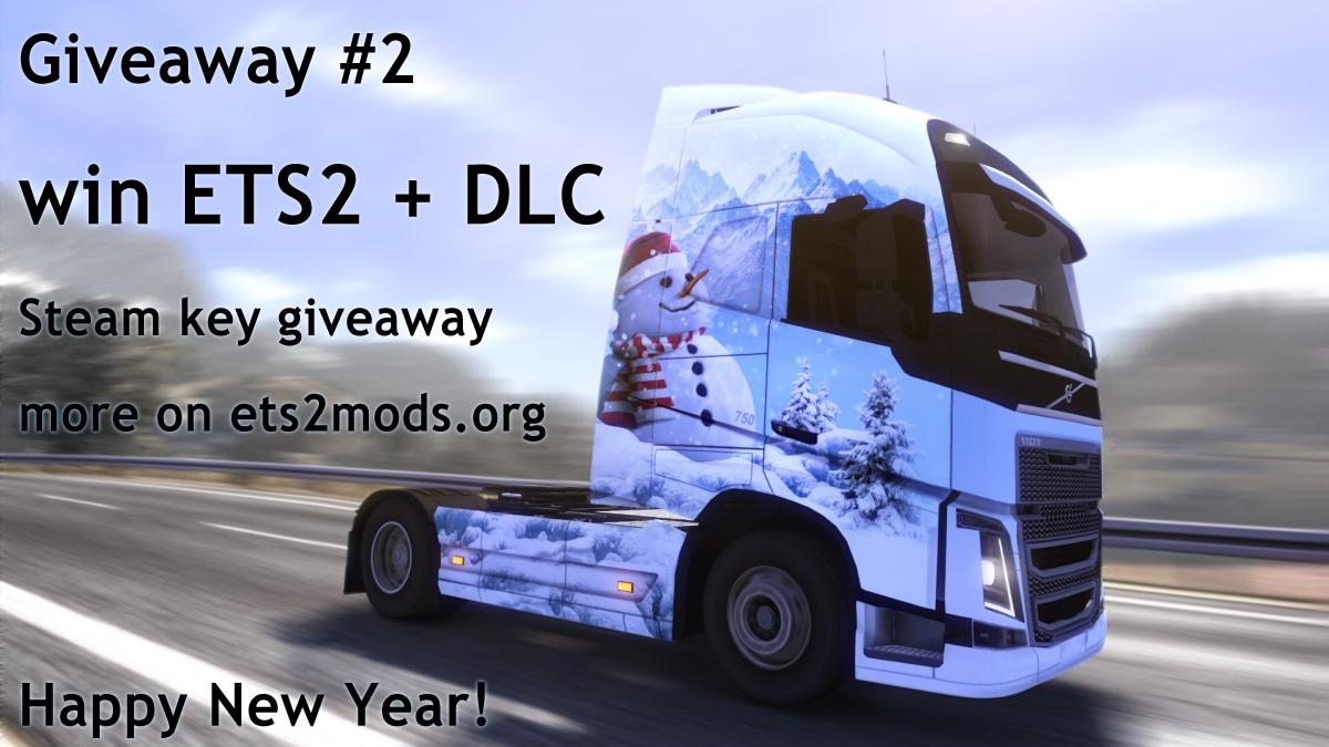 Giveaway #2 - Win ETS2 + DLC