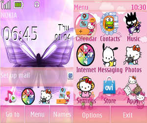 Top 4 Clock themes for Nokia C3