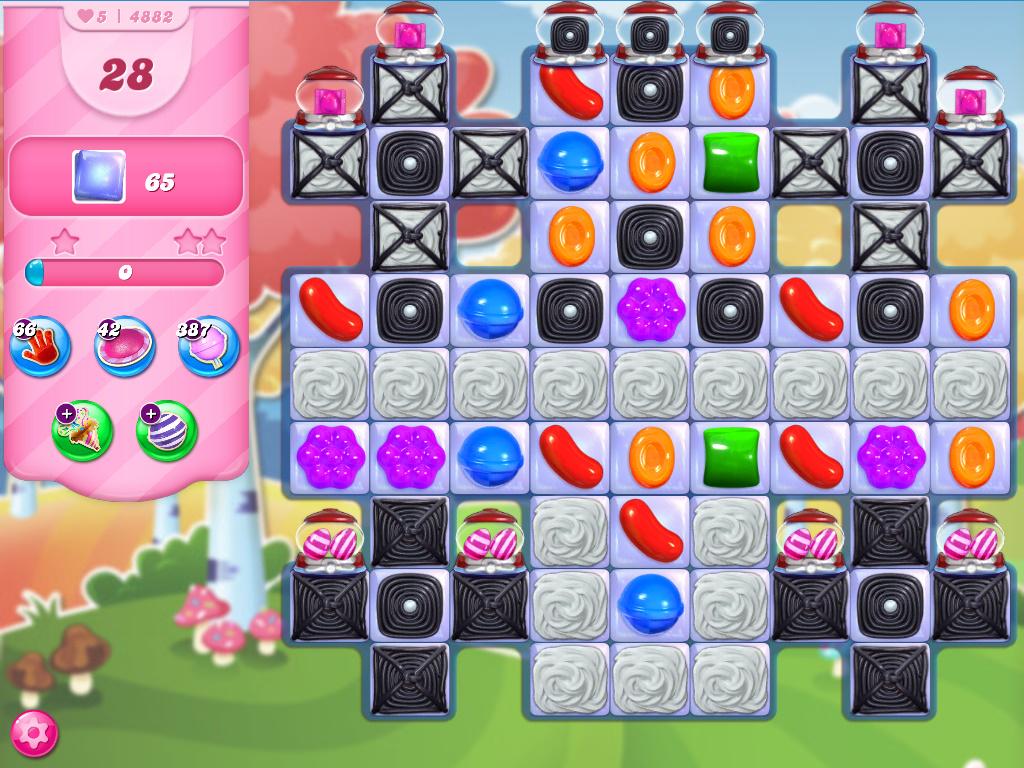 Candy Crush Saga level 4882