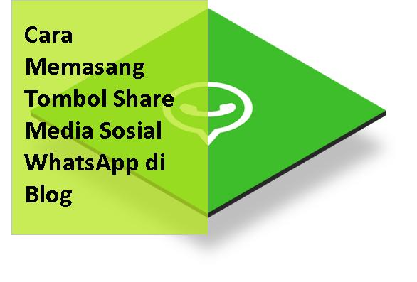 Cara Memasang Tombol Share Media Sosial WhatsApp