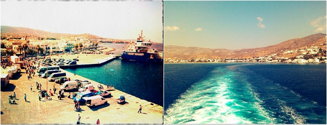 Paros and Ios ports