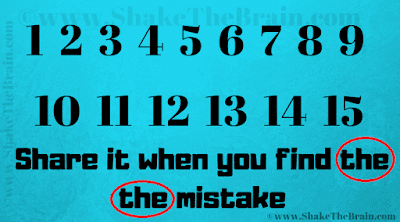 Answer of Mistake Finding Picture Brain Teaser