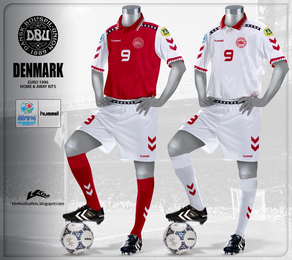 ad4f7c127 Kire Football Kits  Denmark Kits Euro 1996