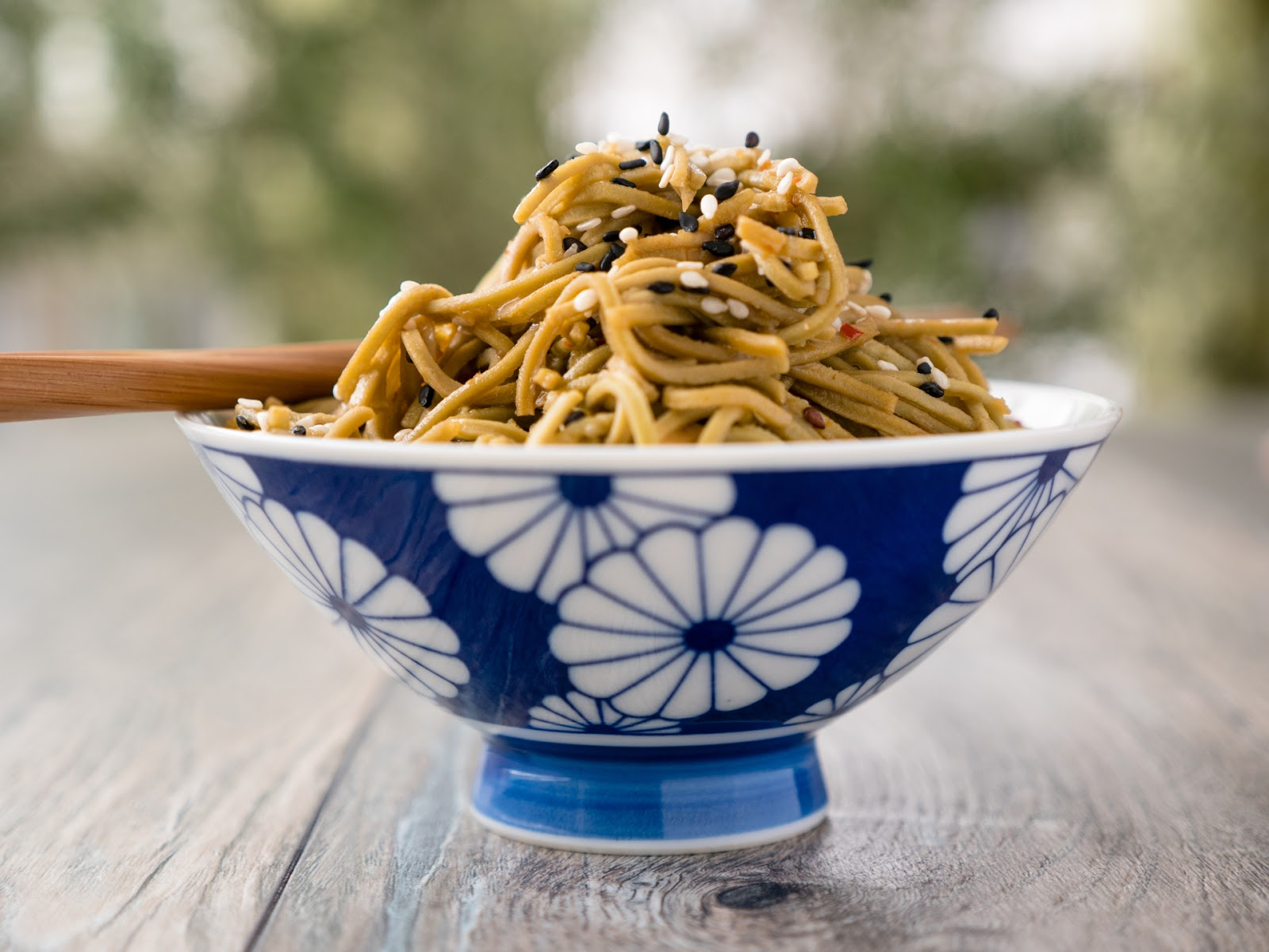 Sesame Ginger Edamame Spaghetti: This quick and simple recipe is packed with protein, low in carbs, and full of flavor | Local Food Rocks