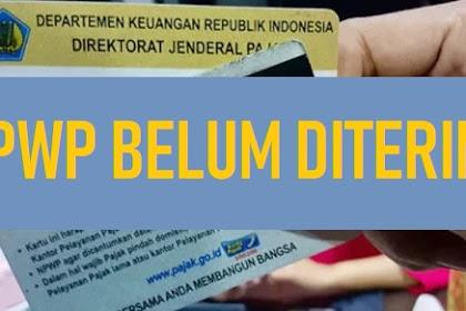 Daftar NPWP Online, NPWP Belum Diterima