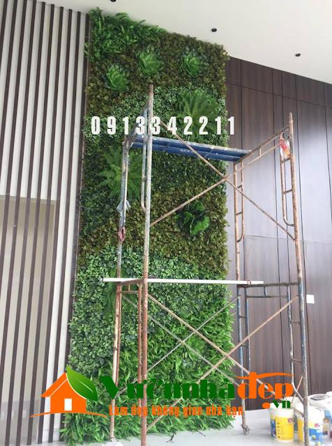 Thi Công tường cây giả - Đẹp như tường cây thật - 25