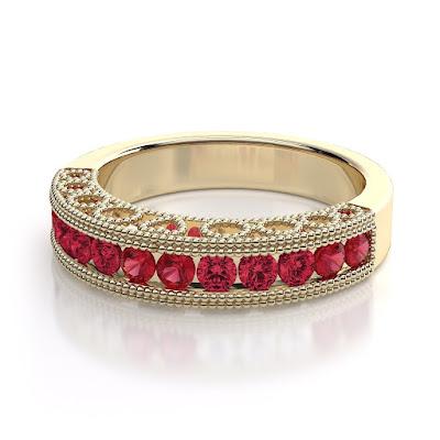 Nhẫn vàng đá Ruby