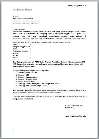 Surat Lamaran Kerja Sederhana
