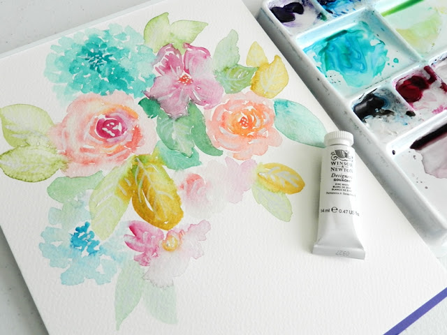 bright watercolor flowers: grow creative blog