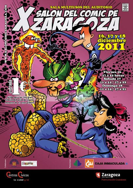 Cartel X Salón del cómic de Zaragoza