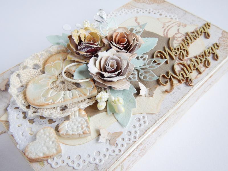 Ręcznie robiona kartka ślubna