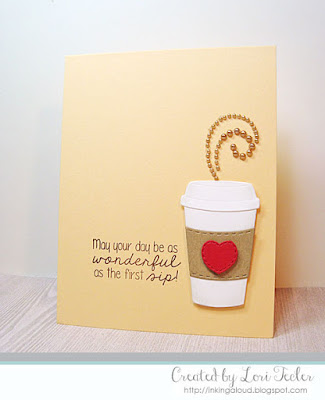 As Wonderful as the First Sip card-designed by Lori Tecler/Inking Aloud-stamps and dies from Lil' Inker Designs