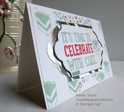 Stampin' Up! Party with Cake card