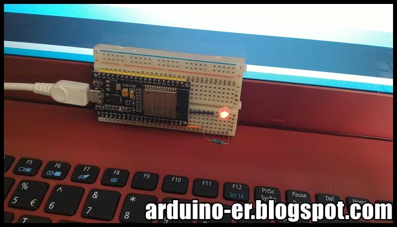Arduino-er: ESP-32S Wifi Bluetooth Module - control GPIO to blink