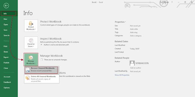 Menelusuri File Excel Yang Hilang Sebelum Save