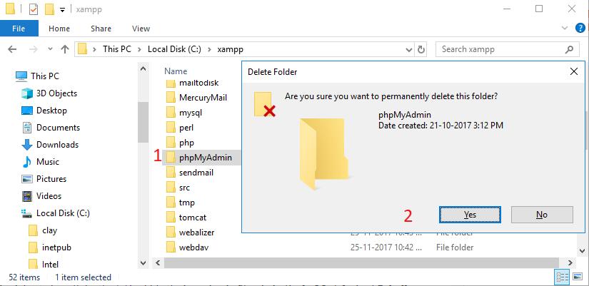 Hướng dẫn cập nhật phpMyAdmin phiên bản mới 4.7.6 trên XAMPP 2