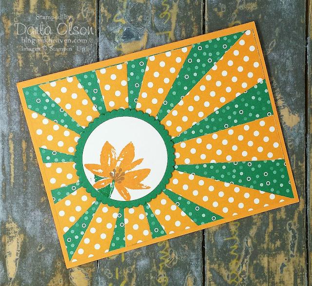 Handmade card created using Avant Garden and Sunburst Die shared by Darla Olson at inkheaven
