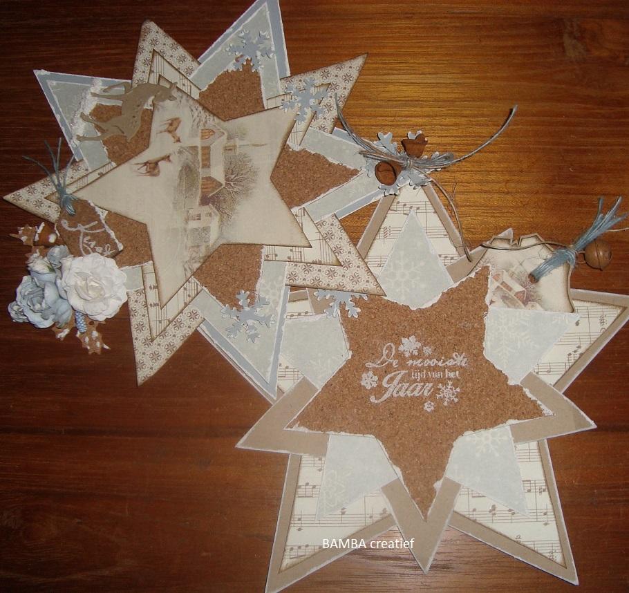bamba creatief dubbele ster kaart