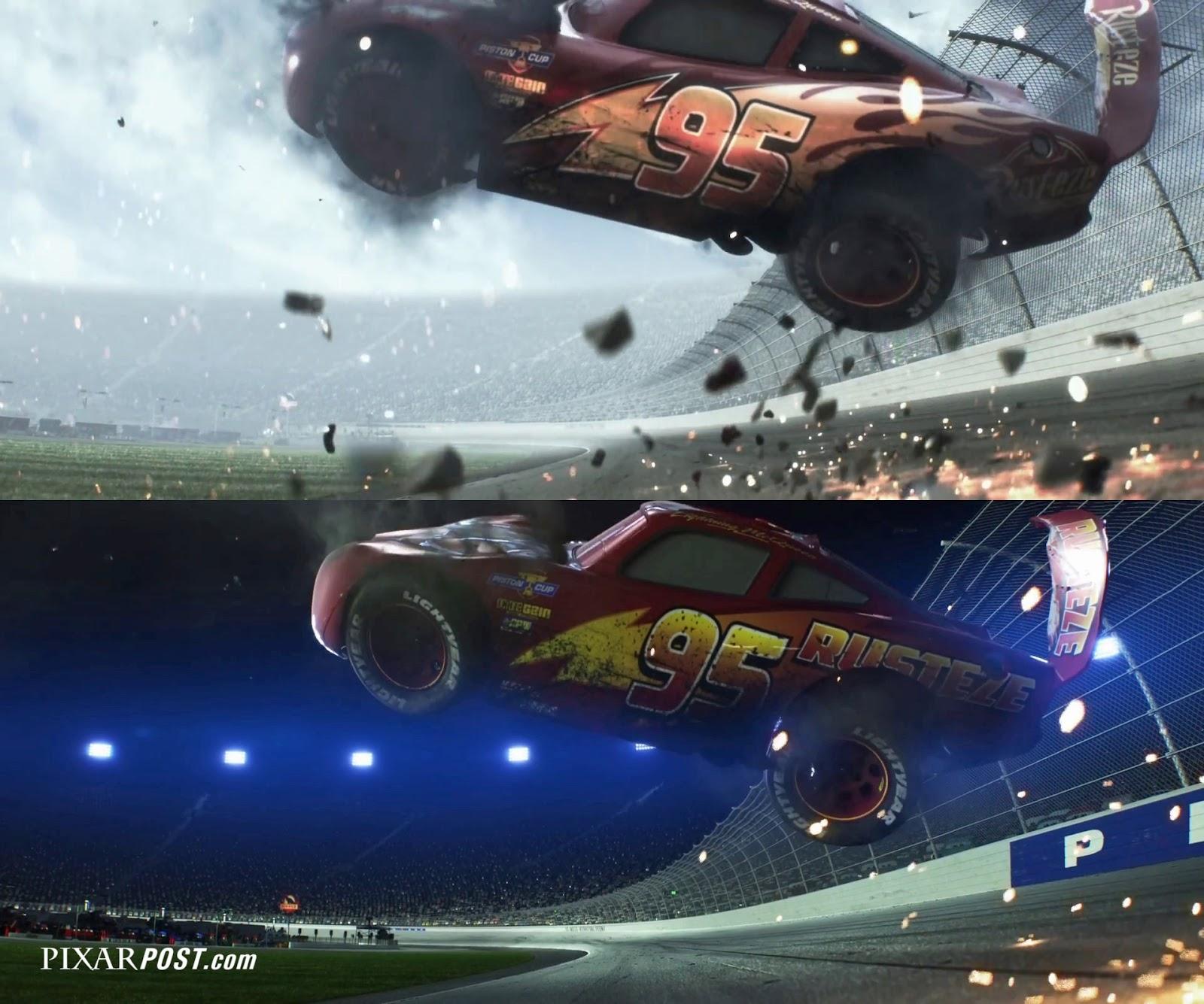 Cars  Mcqueen Crash