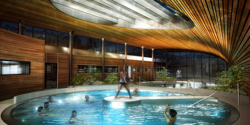 design ideas a green wave a thermal swimming pool royat