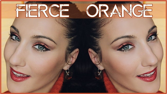 Fierce Orange makeup tutorial by Jelena Zivanovic Orange eyes & lips
