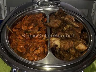 udang balado dan ayam bakar