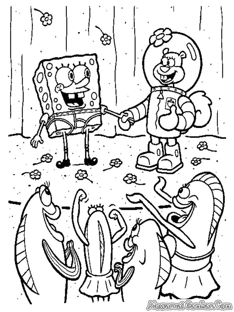 mewarnai spongebob squarepants mewarnai gambar