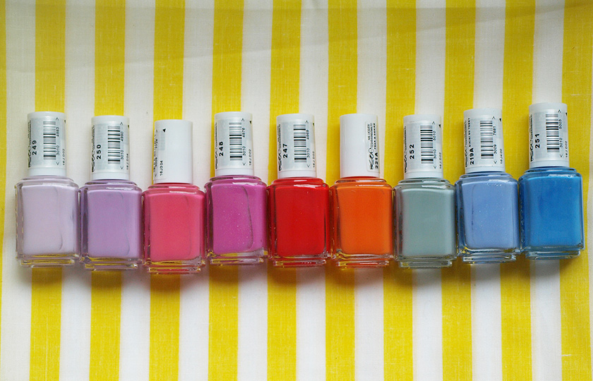 L-R: go ginza, bond with whomever, off the shoulder, madison ave-hue, hip-anema, fear & desire, maximillian strasse her, bikini so teeny, avenue maintain