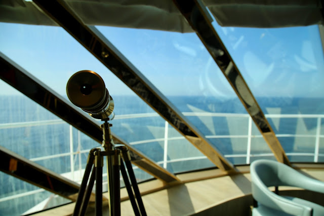 telescope in the crows nest.   Britannia, P and O cruise ship. pic: Kerstin Rodgers/msmarmitelover