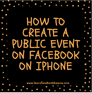 How to create a public event on Facebook on iPhone