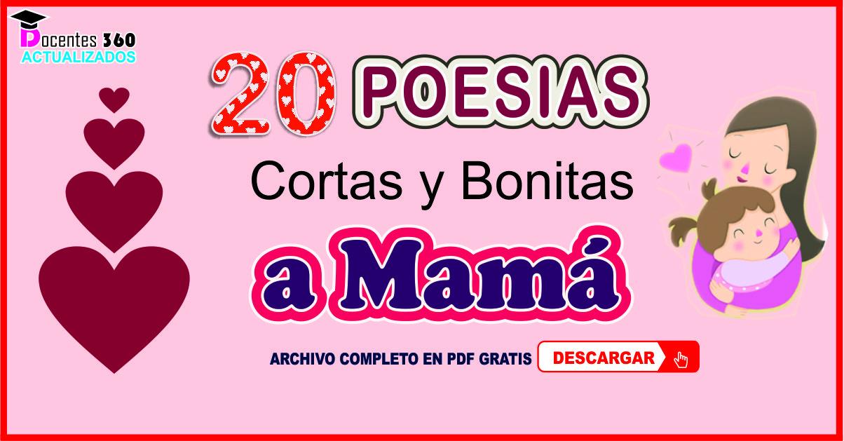 Poesias Cortas Para El Día De La Madre Material Para Imprimir Docentes Actualizados 360