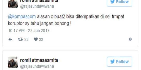 Jaksa Sebut Kalapas Khawatir Ahok Bikin Gaduh di LP Cipinang, Prof Romli: Itu Akal-akalan Pembohong!