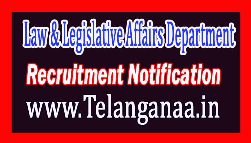 Law & Legislative Affairs Department Government of Manipur Recruitment Notification 2017
