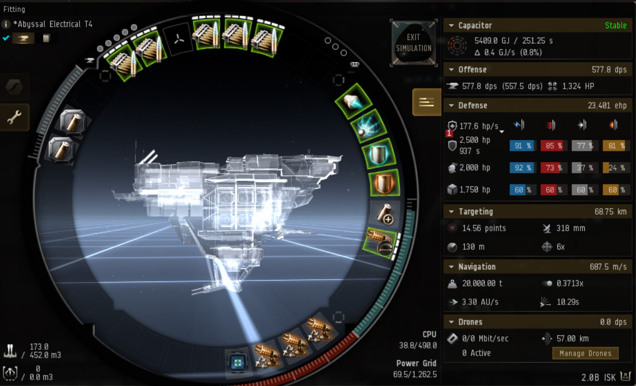 EVE Online Mission: Broadsword Tier 4 and lower electrical