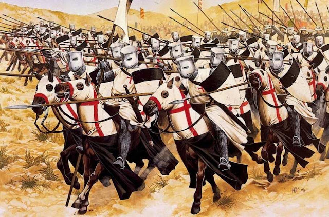 Os cruzados caíram como um raio sobre o exército de Saladino
