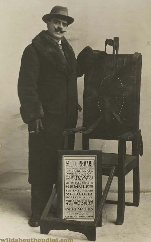 Wild About Harry Houdini S Electric Chair The Shocking Truth