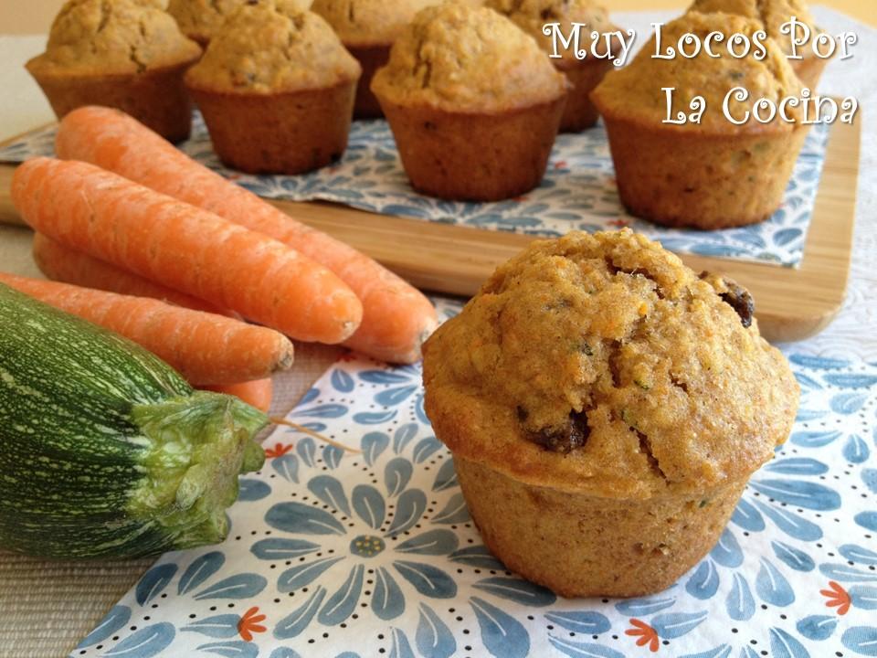 Muffins de Zanahoria, Calabacín y Avena