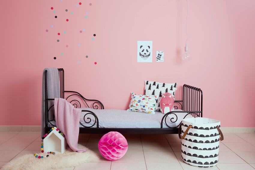 pintura rosa habitacion infantil