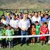 En Bochil, Manuel Velasco inauguró el campo de futbol de la Unidad Deportiva