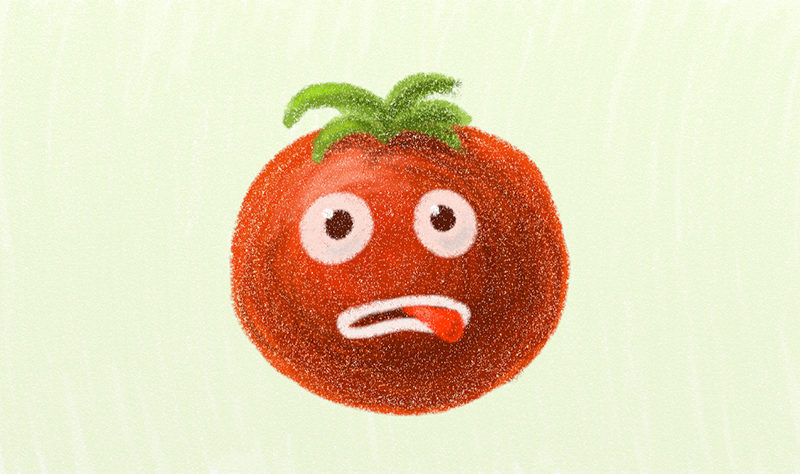 Funny red tomato character