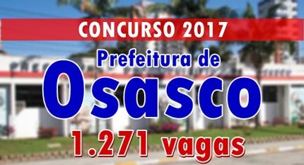 concurso Prefeitura de Osasco SP 2017